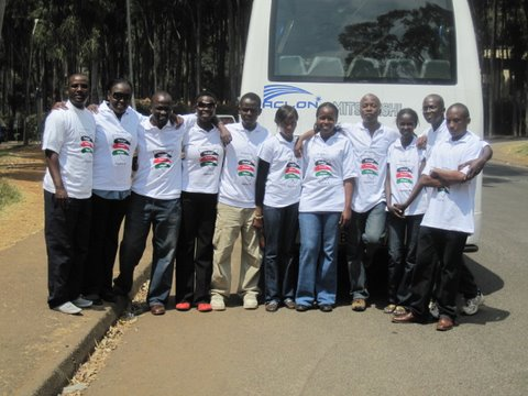 The team before heading out for civic education campaign in Nairobi