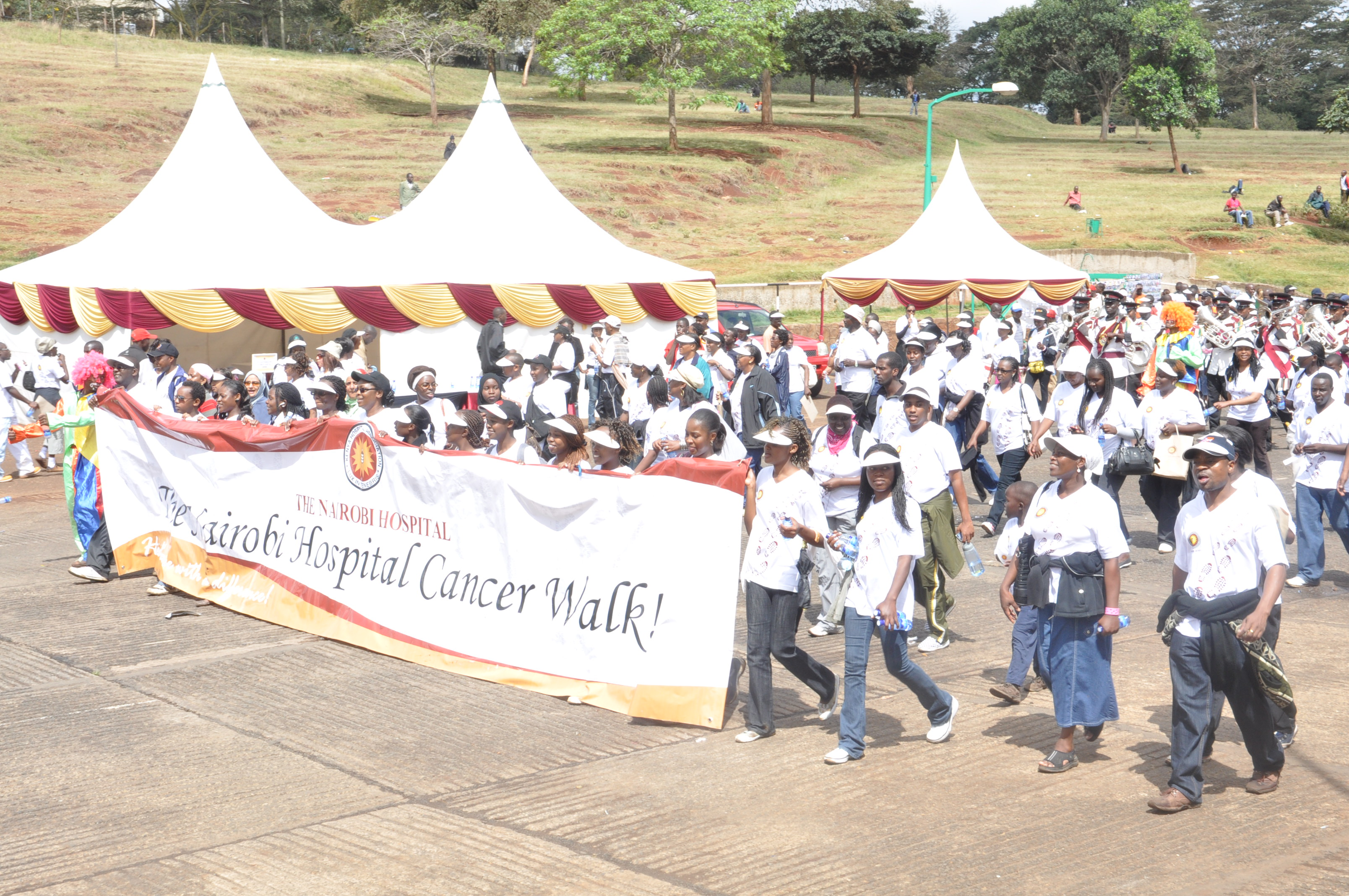 Having completed the cancer awareness walk held by Nairobi hospital