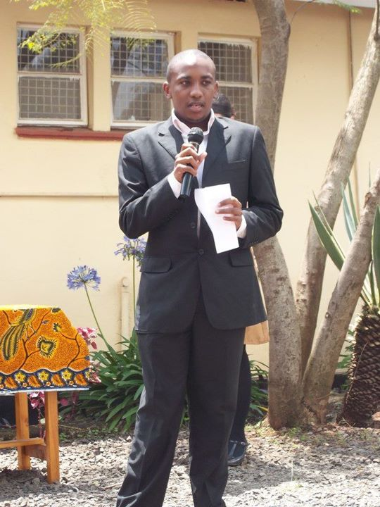Giving a speech at vision africa