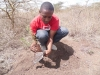 Planting seedlings at the Nairobi National park courtesy of Twestival