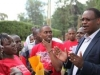 Kidero addresses us as we did a walk to protest the rising insecurity in Kileleshwa