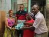 Presenting donation at Mama Fatuma Children's Home with Wini Nkinda